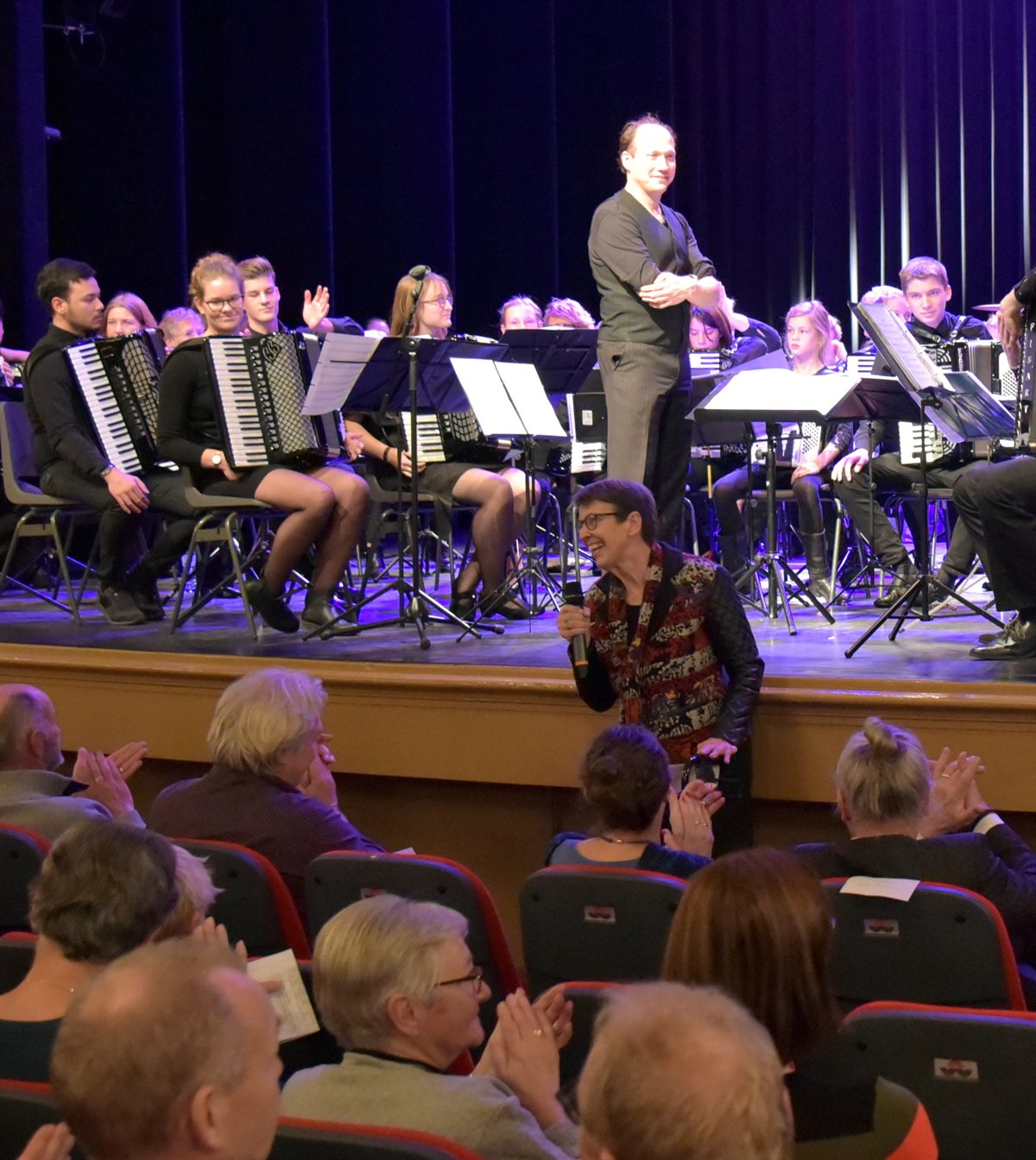 Concert van accordeonvereniging Musetta, orkest Alegro en Nederlands Jeugd accordeon orkest in Meppel